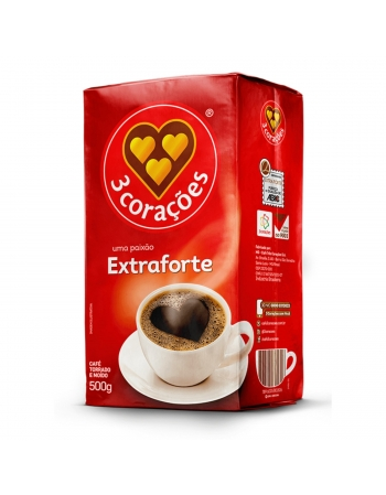 CAFE EXTRA FORTE VACUO 3CORACOES 500G