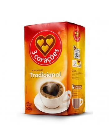 CAFE TRADICIONAL VACUO 3CORACOES 500G