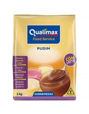 PUDIM C/LEITE CHOCOLATE QUALIMAX 1KG
