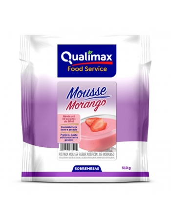 MOUSSE MORANGO QUALIMAX 510G